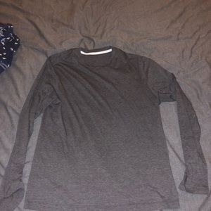 Lululemon casual long sleeve shirt- grey- large